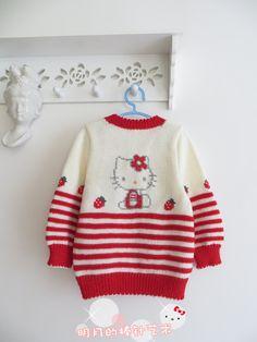 可爱男宝、女宝实用开衫(视频) - 明月的棒针艺术 - 明月的棒针艺术 Knitting For Kids, Baby Knitting, Bead Crochet, Christmas Sweaters, Knitting Patterns, Fall Winter, Children, Lady, Blog