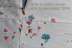 How to Match Seams Perfectly Invisible Zipper
