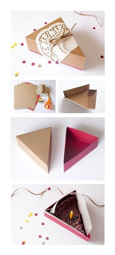 paper box with cake...