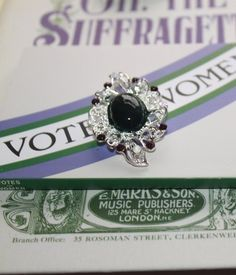 Give Women The Vote. 100 Years of the Vote. Deeds Not Words, Suffragette, Branches, Costume Jewelry, Wedding Rings, Brooch, Hand Painted, Engagement Rings, Jewellery