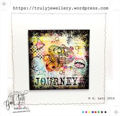Journey, Polkadoodles, Tropical Underworld stamp set, Stamping, Stencilling, Mixed Media