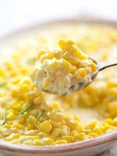 5 Ingredient Slow Cooker Creamed Corn is the closest version yet to the canned stuff I loved as a kid | foodiecrush.com