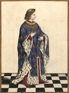 Louis de Bourbon (Gaignières 266) -- Dessin, Fonds Gaignières [BNF Est Réserve OA-11] -- «Louis .I. Duc de Bourbon Pair & Chambrier de France comte de Clermont mort en 1341 [1342] - - Pris sur un Armorial d'Auvergne Mss ancien d'environ 300 ans du Cabinet de M de Gaigneres.»