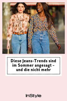 Für den Sommer 2021 sortieren wir aus! Welcher Jeans-Trend in der warmen Jahreszeit angesagt ist – und welcher erstmal im Kleiderschrank bleibt #instyle #instylegermany #jeans #trend #sommer Jeans Trend, Overall, Denim Jeans, Trends, Outfit, Style, Fashion, Fashion Styles, Cat Walk