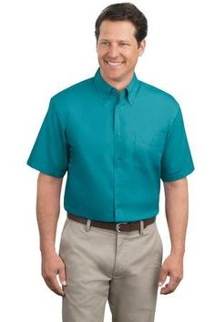 Port Authority Men's Short Sleeve Easy Care Dress Shirt $11.99