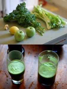 Kale juice and salad recipe for natural weight loss and simple detox.