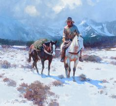JAMES REYNOLDS On The Eastern Slopes Oil on Canvas 36″ x 40″