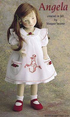 Angela 16.5 Inch Tall Felt Doll Edition Size: 70 Created in 2001