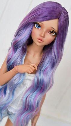 Imagen de bjd doll and wallpapers Anime Dolls, Ooak Dolls, Barbie Dolls, Pretty Dolls, Beautiful Dolls, Chica Cool, Enchanted Doll, Realistic Dolls, Doll Repaint