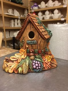 the ready to paint ceramic shop Clay Fairy House, Fairy Houses, Ceramic Birds, Ceramic Animals, Pottery Painting, Ceramic Painting, Mason Jar Garden, Ready To Paint Ceramics, Biscuit