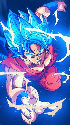 Dragon Ball Z Red Goku iPhone Wallpaper - iPhone Wallpapers Dragon Ball Gt, Blue Dragon, Art And Illustration, Wallpaper Do Goku, Dragonball Wallpaper, Dragonball Goku, Goku 2, Foto Do Goku, Dbz Wallpapers