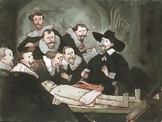 The Anatomy Lecture of Nicolaes Tulp by Scott Campbell