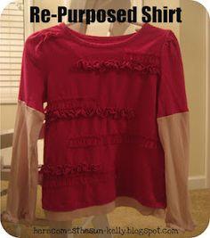 repurposed girls shirt