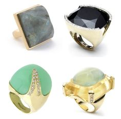 Chunky stoned rings. Chea