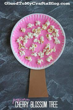 Popcorn Cherry Blossom Tree - Kid Craft