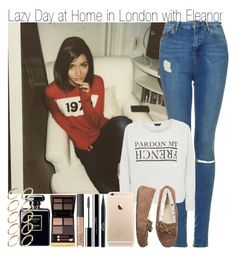 """Lazy Day at Home in London with Eleanor"" by elise-22 ❤ liked on Polyvore featuring Topshop, UGG Australia, Stila, shu uemura, NARS Cosmetics, Tom Ford and ASOS"