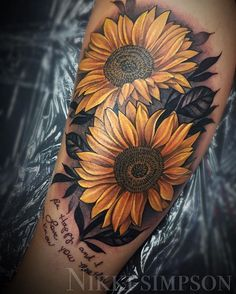 Did these sunflowers last night with some handwriting very personal to her Done with @fusion_ink @paradoxrotary at @addictedtoinkny