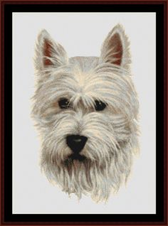 Westie - Cross Stitch Collectibles fine art counted cross stitch pattern