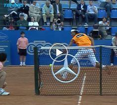 13 years ago: Rafael Nadal hits crazy passing shot