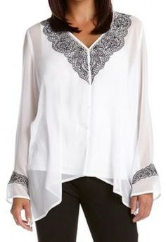 Embroidered Lace Handkerchief Top