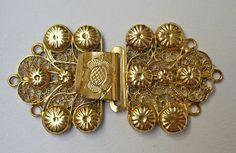 Filigrain gouden slot van Zeeuws collier, 19e eeuw