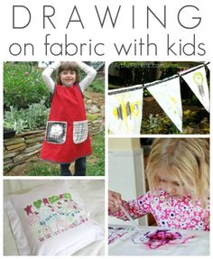 Drawing on Fabric with Kids