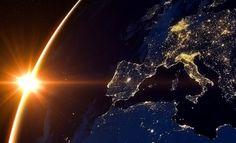 Alba sul Pianeta Terra, vista dallo Spazio - Sunrise over planet Earth, Seen from Space