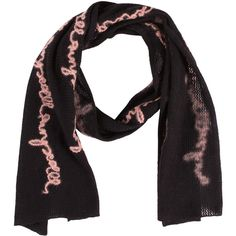 Pre-owned Moschino Scarf ($50) ❤ liked on Polyvore featuring accessories, scarves, black, moschino scarves, black shawl, black scarves, moschino and embroidered scarves