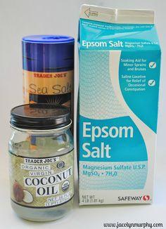 Body Scrub DIY with Epsom salts and coconut oil