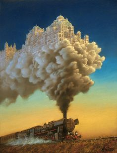 Fantastic Oil Paintings Of Invisible Cities Rising Out Of Unexpected Places - DesignTAXI.com