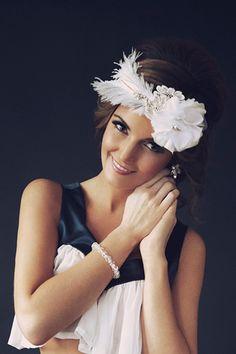 20's style feather headpiece by Teeki  www.teeki.com.au