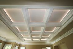 Correctly lighting a coffered ceiling will make the room seem completely different. http://www.onlinetips.org/coffered-ceiling/
