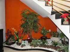 jardim de inverno embaixo da escada com cascata - Pesquisa Google