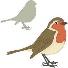 Robin bird diy christmas cards ideas for 2019 Vogel Clipart, Bird Clipart, Bird Silhouette, Silhouette Design, Robin Vogel, Robin Drawing, Vogel Quilt, Bird Outline, Bird Template