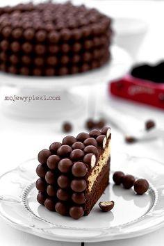 Double Chocolate Cake w Malteserami and Coffee Cream Chocolate ♥