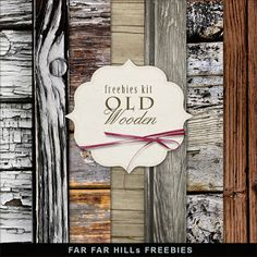 Far Far Hill: Freebies Kit of Backgrounds - Old Wooden