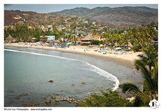 Sayulita beach from Don Pedro's Palapa, in Sayulita, Mexico