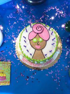 Spa Birthday Party Cake!  13th Spa Birthday Party  (credit: southeast regional medspa)