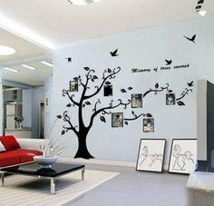 WallStickersDecal® PVC Riesig Schwarz Bilderrahmen Speicher Baum Vine Zweig Abnehmbare Wandtattoo Sticker: Amazon.de: Küche & Haushalt