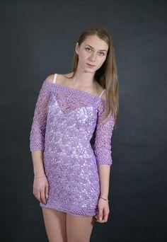 Laura  Handmade Crochet Dress Unique Design
