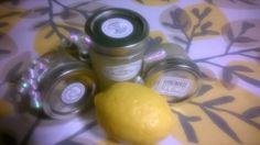 Lemon poundcake body scrub: real lemons, vanilla, olive oil, Epsom salt.