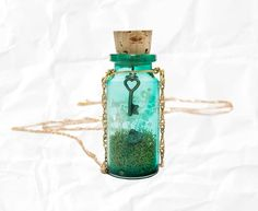 Glass bottle necklace
