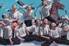 Yue Minjun, The Massacre At Chios, 1994