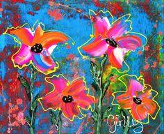 Prachtige bloemen - acrylverf