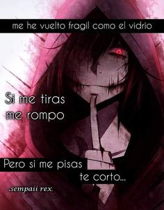 Read Como el vidrio from the story Imagenes y frases tristes by with 279 reads. Sad Anime Quotes, Sad Quotes, Anime Triste, Jeff The Killer, Angel Of Death, Sad Love, Manga, Creepypasta, Yandere