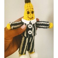 Bananas in PJs! #bananasinpajamas #amigurumi #knitPJ #crochet #abc #abc4kids #hellostitchesxo #crochetersofinstagram #knit