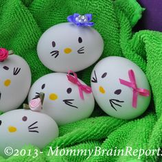 DIY: Hello Kitty-esque Easter Eggs