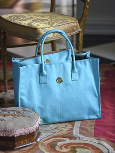 dbe4ecaa1117 Anna Griffin Turquoise Collection All Purpose Tote and Cosmetic Bag