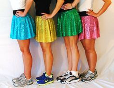 Running Costumes | Have y'all seen the sparkly running skirts?!?!