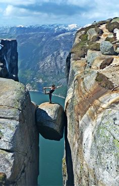 Kjerag, Rogaland Fylke, Norway - After a four hour bus ride and...